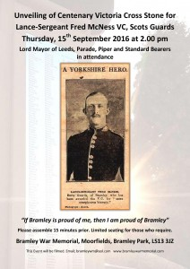Poster for Fred McNess Centenary Commemoration.