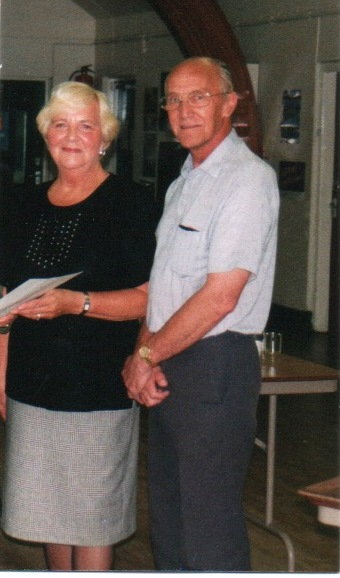 Committee Member Marion North with the late Brian Crowther, Founding Archivist