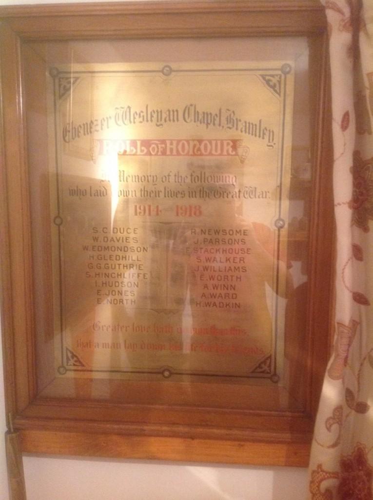 Ebenezer Wesleyan Chapel Plaque