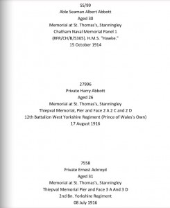 Book of Remembrance Text