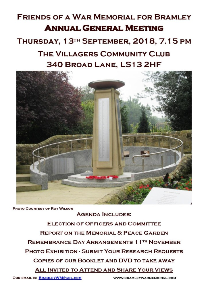 The Friends of a War Memorial for Bramley 2018 AGM Poster-page-001