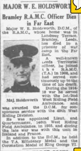 Newspaper Obituary 1945.