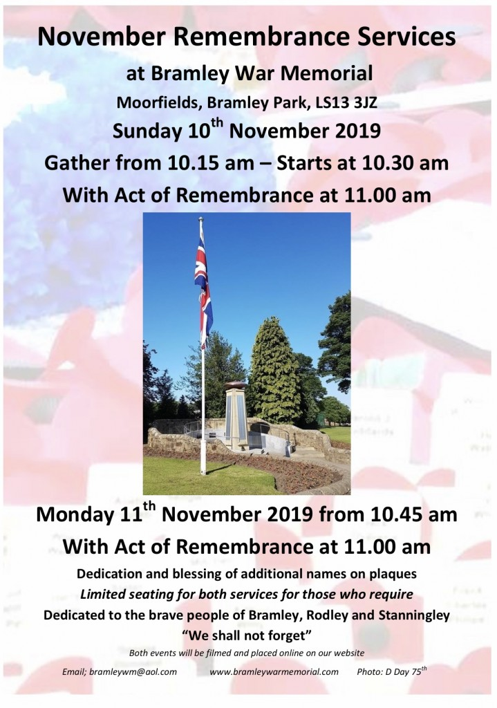 Remembrance Services 2019